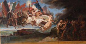 Restauration d'une toile peinte de grandes dimensions, complètement déchirée (après)