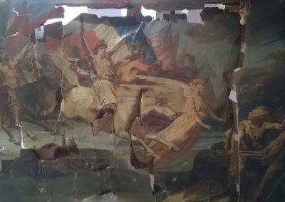 Rentoilage d'une toile de peinture