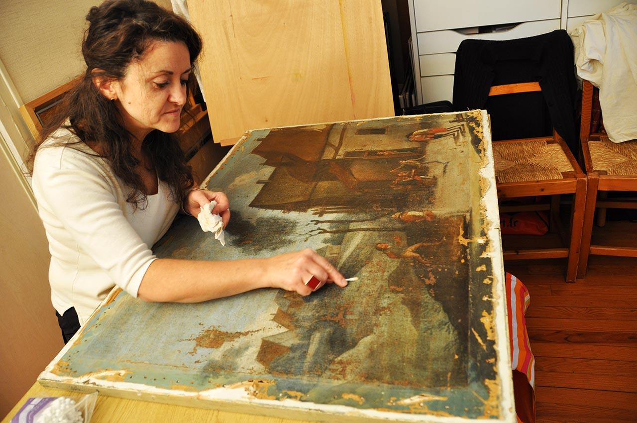 Retirer le vernis d 39 un tableau ancien for Nettoyer une peinture a l huile