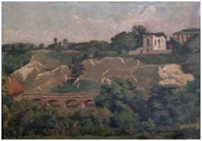 Restauration d'un paysage sur toile