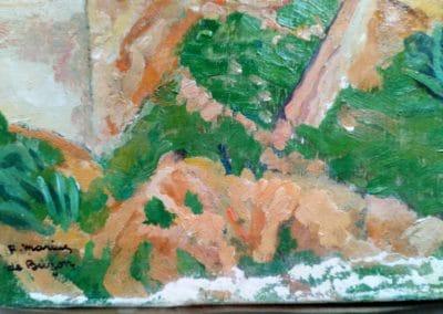 Cap d'Alger - Masticage des lacunes (coin bas gauche)